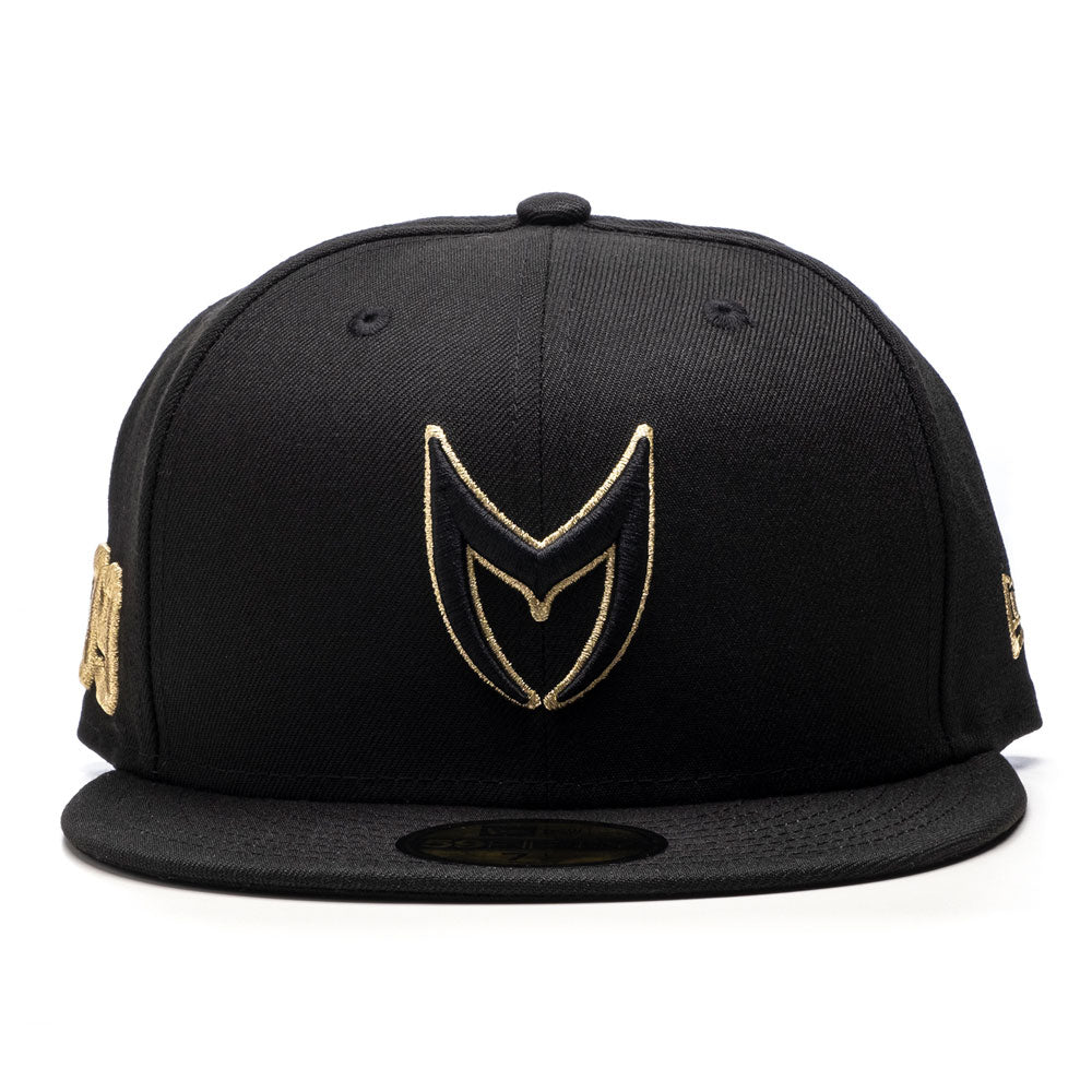 CAP107 - MSTR FITTED HAT / BLACK & GOLD