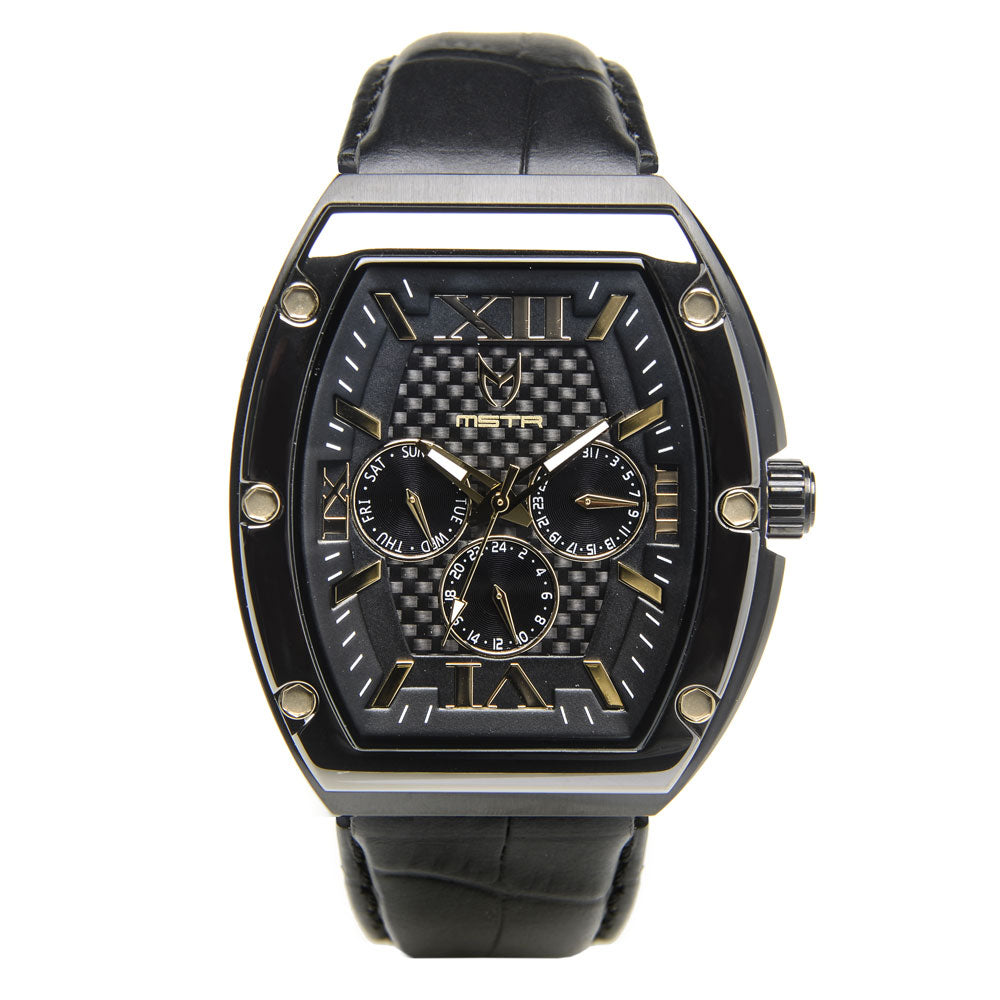 MJ108CB - MAJOR TITANIUM CHROME / BLACK / CROC STYLE BAND