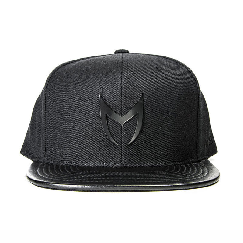MSTR X Mitchell & Ness Snapback Hat - Black on Black