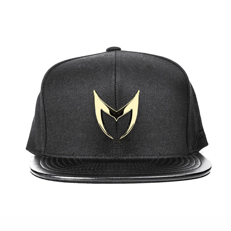 MSTR X Mitchell & Ness Snapback Hat - Champagne Gold & Black