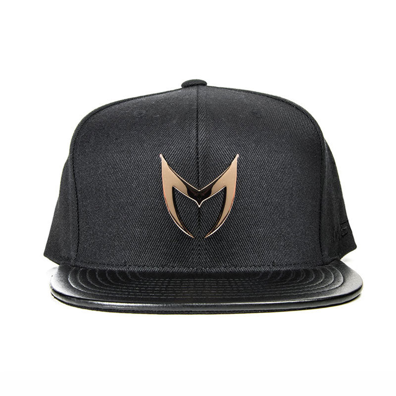 MSTR X Mitchell & Ness Snapback Hat - Rose Gold & Black