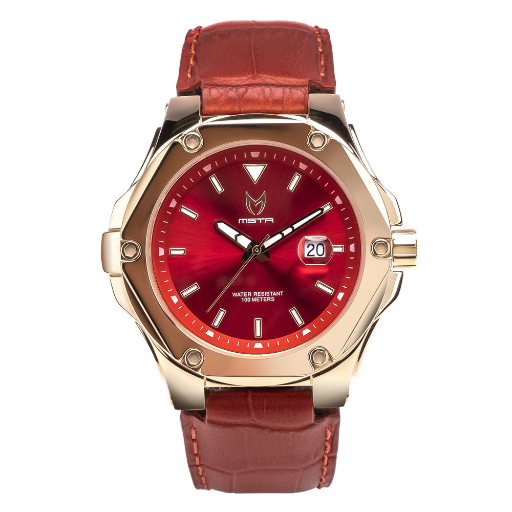 PR204CB - PRODIGY V2 ROSE GOLD / RED / CROC STYLE BAND