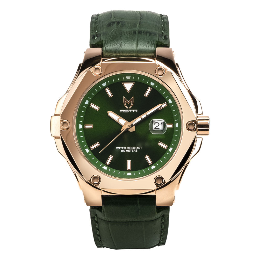 PR206CB - PRODIGY V2 ROSE GOLD / GREEN / CROC STYLE BAND