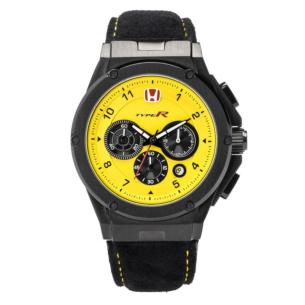 AM248TR - MK3 BLACK / YELLOW / LEATHER BAND