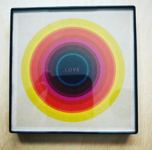 """Love"" 4x4 Print Framed"