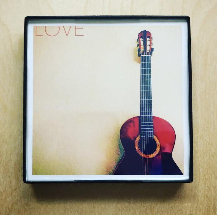 """Love Guitar"" 4x4 Print Framed"