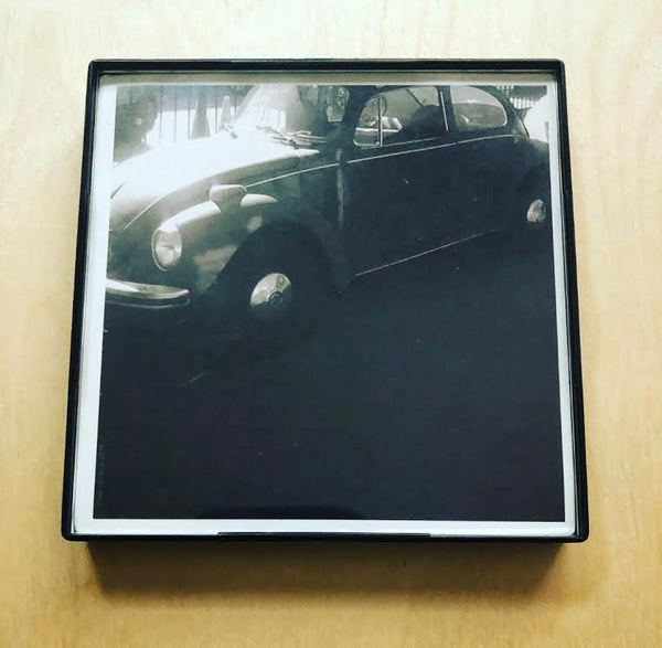 """Old Vintage Bug"" 4x4 Print Framed"