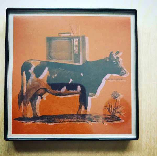 """Organic TV Dinner"" 4x4 Print Framed"