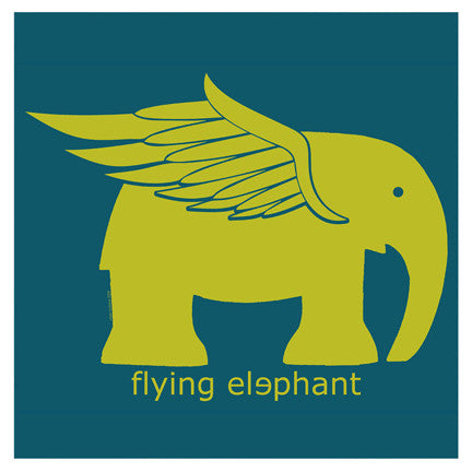"""Flying Elephant"" 4x4 Print"