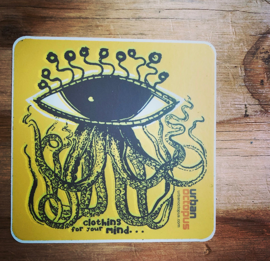 """urban octopus"" sticker"