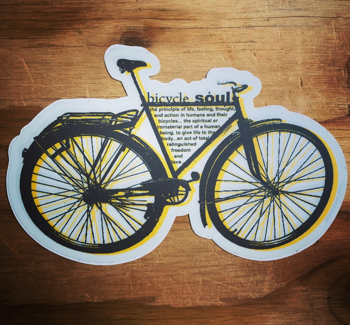 """bicycle soul"" sticker"
