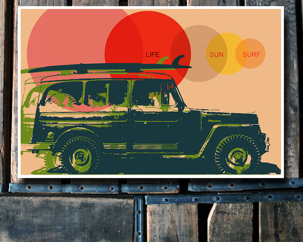 """Surf Vehicle"" 11x17 Poster"