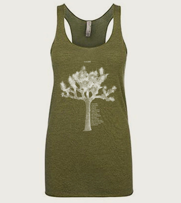 """tree LOVE"" Ladies Tri-Blend Racerback Tank"