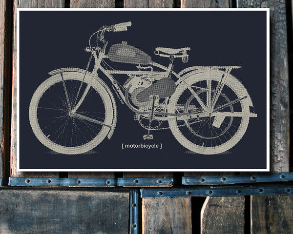 """Motorbicycle"" 11x17 Poster"