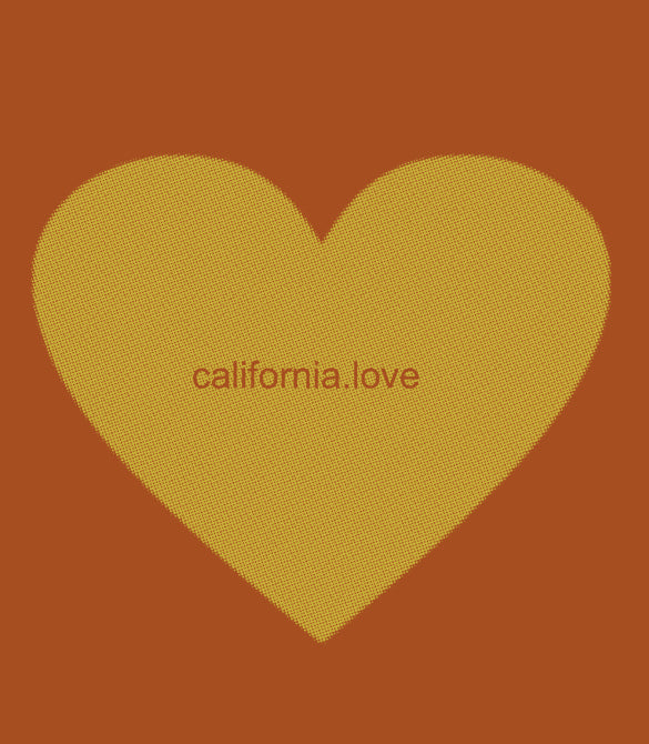"""California LOVE"" { Bandana ART / face mask }"