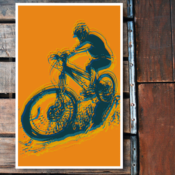 """Mountain Bike"" 11x17 Poster"