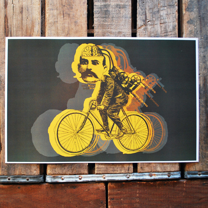 """Bicycle Brain"" 11x17 Poster"