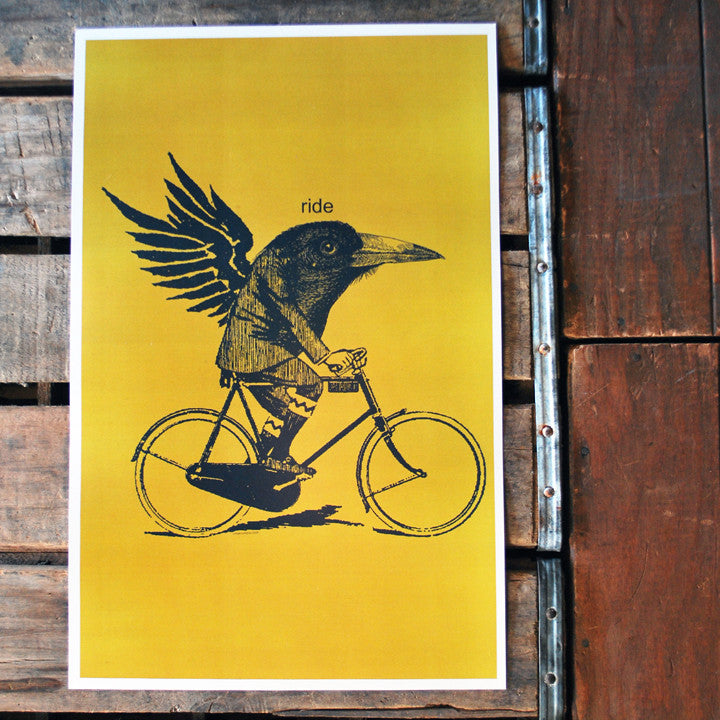"""Ride"" crow 11x17 Poster"