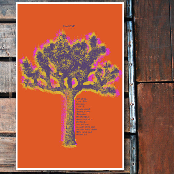 """Tree LOVE"" orange 11x17 Poster"