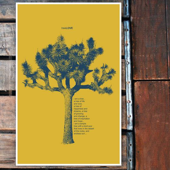 """Tree LOVE"" yellow 11x17 Poster"