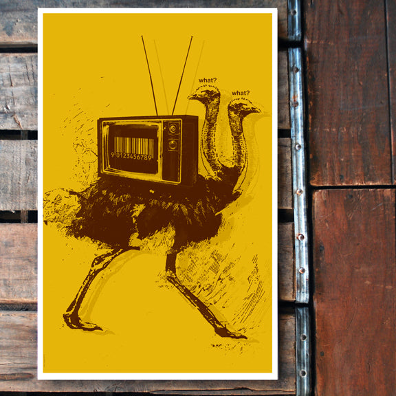 """What,What Ostrich"" 11x17 Poster"