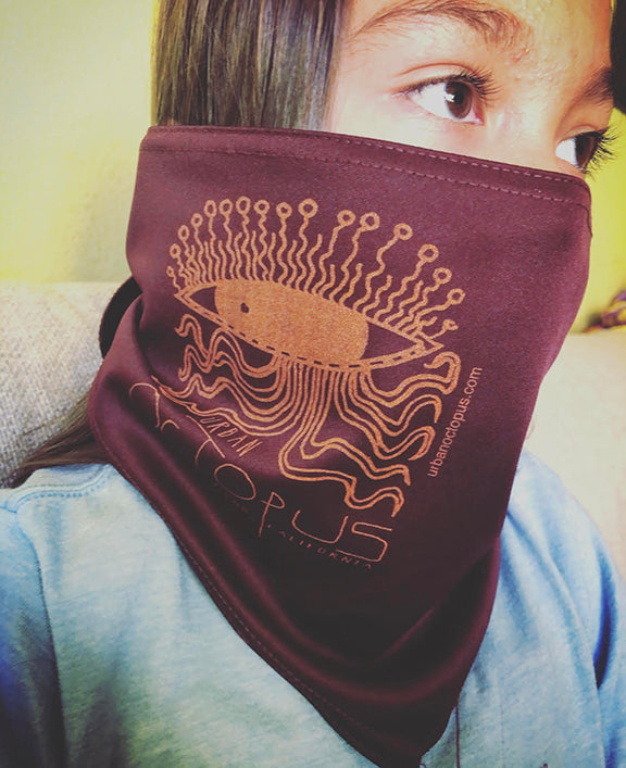 """Urban Octopus"" { Bandana ART / face mask }"