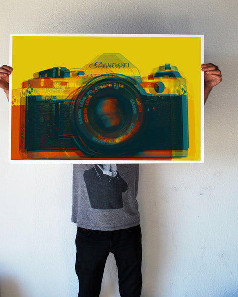 """35mm Analog Camera"" 24x36 Giant Poster (New Item!)"
