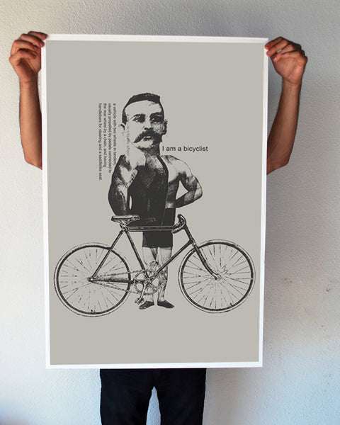 """I am a Bicyclist"" 24x36 Giant Poster (New Item!)"