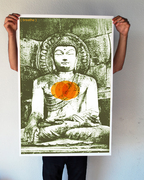 """Breathe Buddha"" 24x36 Giant Poster (New Item!)"