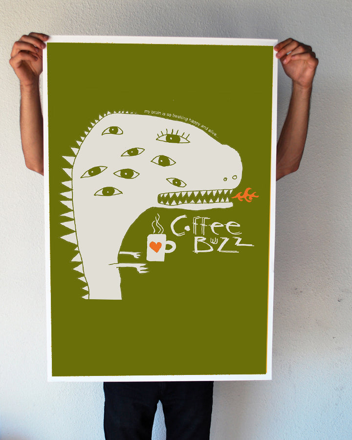 """Coffee Buzz"" 24x36 Giant Poster (New Item!)"