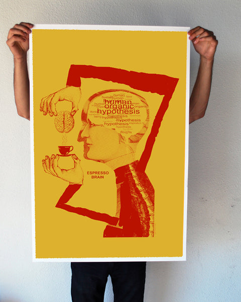 """Espresso Brain"" 24x36 Giant Poster (New Item!)"