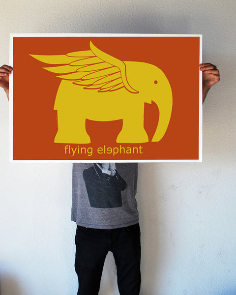 """Flying Elephant"" 24x36 Giant Poster (New Item!)"