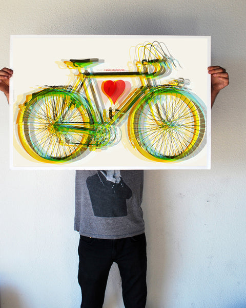"""Bicycle Love"" 24x36 Giant Poster (New Item!)"