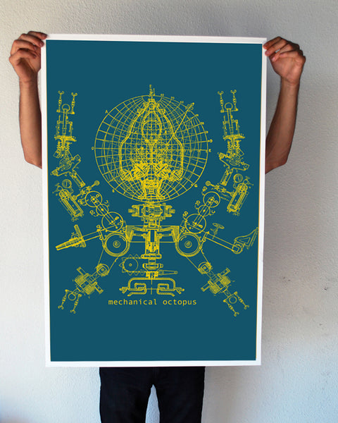 """Mechanical Octopus"" 24x36 Giant Poster (New Item!)"