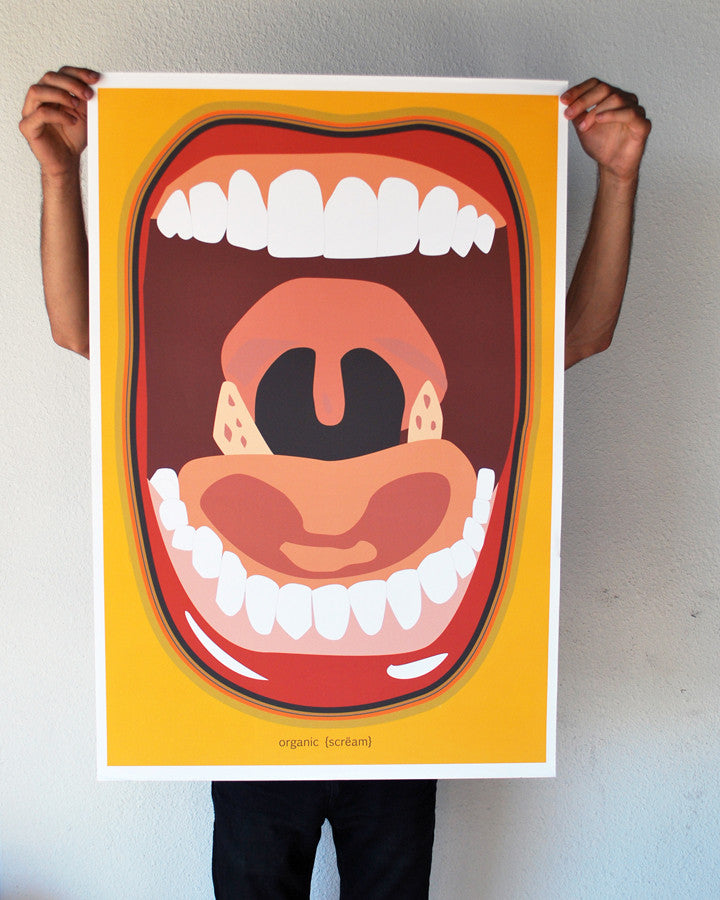 """Organic Scream"" 24x36 Giant Poster (New Item!)"