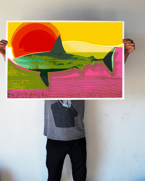 """Endless Shark Sun"" 24x36 Giant Poster (New Item!)"