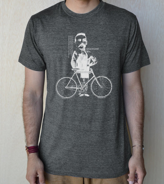 """Bicyclist"" 60/40 Unisex 65/35 blended Tee"