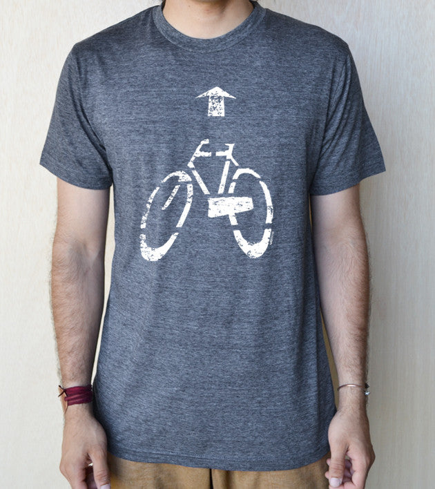 """Bicycle Direction"" Unisex 65/35 blended Tee"