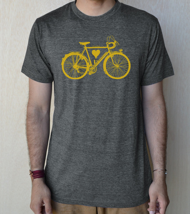 """Bicycle LOVE"" Unisex 65/35 blended Tee"