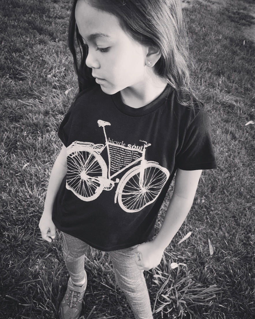 """Bicycle Soul"" Kids super soft-Blend Tee"