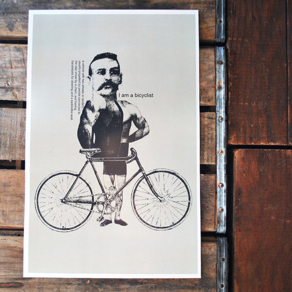"""Bicyclist"" 11x17 Poster"