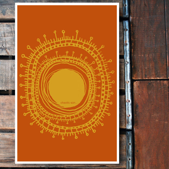 """Chaotic Sun"" 11x17 Poster"