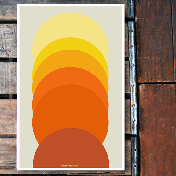 """Evolution Sunset"" 11x17 Poster"
