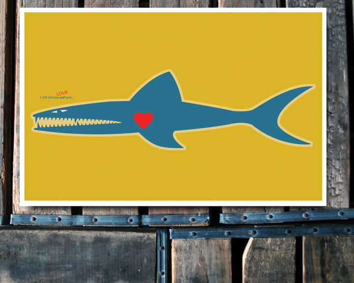 """I Love You..."" shark 11x17 Poster"