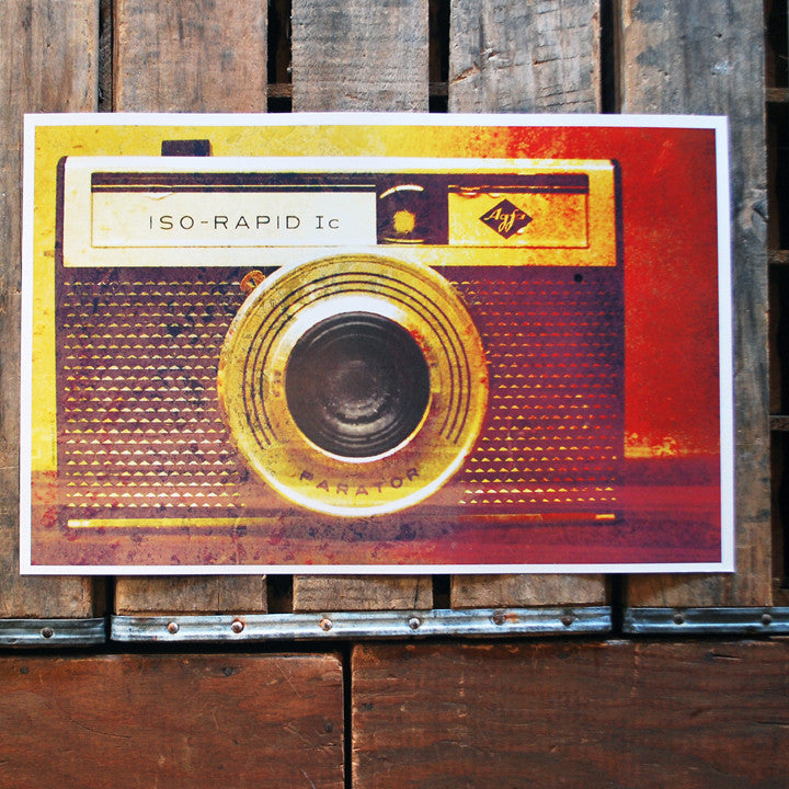 """ISO RAPID"" vintage camera 11x17 Poster"