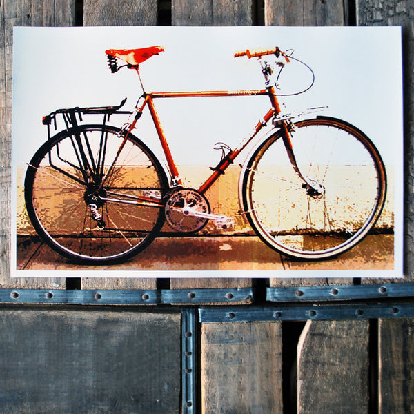 """Orange Bicycle"" 11x17 Poster"
