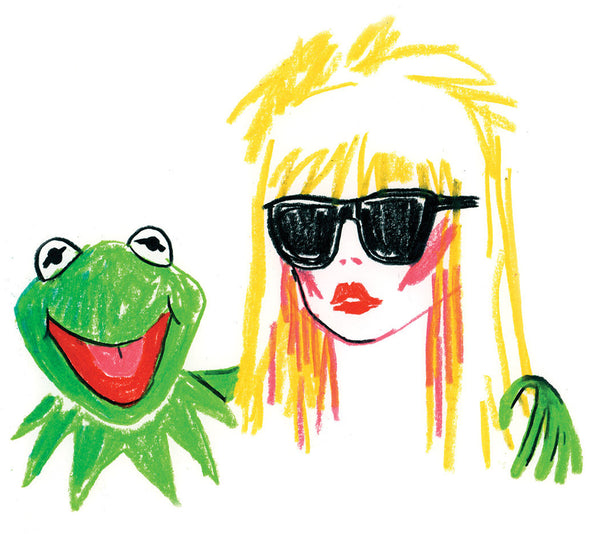 """Sound & Vision II"" by Nathan Jurevicius (Original Sketch) - Blondie and Kermit"