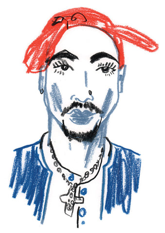 """Sound & Vision II"" by Nathan Jurevicius (Original Sketch) - 2pac"