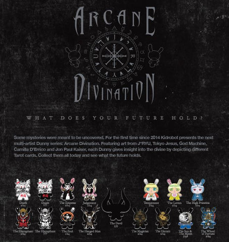"(Pre-Order) Full Sealed Case of 24 Arcane Divination 3"" Dunny Mini Series By Kidrobot"