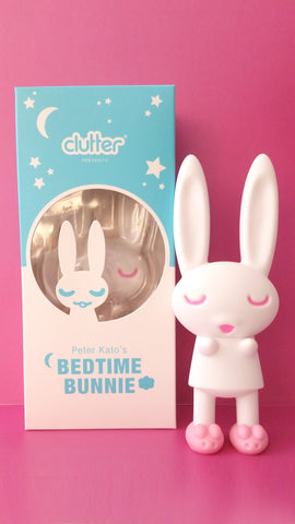 Bedtime Bunnie by Peter Kato x Clutter (Woot Bear Exclusive White w/Pink Slippers)